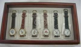 Disney 75th Anniversary Limited Wristwatch set of 6 2000 Limited Used Super Rare - $455.69