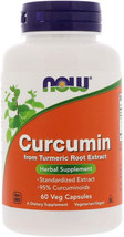 NOW Supplements, Curcumin, derived from Turmeric Root Extract, 60 Veg Capsules - $18.99