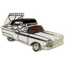 Ford Retractable 1958 White Car Emblem Pin Pinback - $7.91
