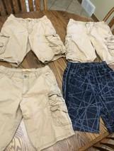 3 Boys Lee Dungarees 16 Khaki Cargo Shorts + 1 Tek Gear Drytec L 14/16 - $12.35