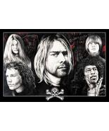 Dead At 27 Poster Best  Kurt Cobain Jimi Hendrix Janis Joplin  Jim HOT N... - $10.88+