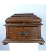Antique Wood inlaid Marquetry Box with Drawer - $182.33