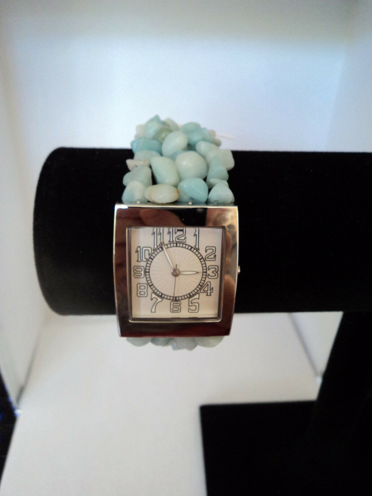 Avon Semi-Precious Chip Stretch Watch Green Needs Battery New 2007 Stock