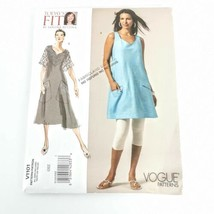 Vogue V1101 Sandra Betzina Summer Dress Sizes All Short Sleeve Sleeveles... - $19.99