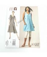 Vogue V1101 Sandra Betzina Summer Dress Sizes All Short Sleeve Sleeveles... - $19.99