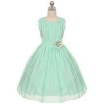 Mint Yoryu Chiffon Flower Girl Dresses Birthday Party Pageant Wedding Br... - £27.32 GBP+