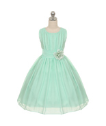 Mint Yoryu Chiffon Flower Girl Dresses Birthday Party Pageant Wedding Br... - $36.00+