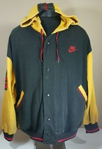 Vintage Nike Air Jordan Sweatshirt Jacket Large Hoodie 90's VII OG Flight - $215.99