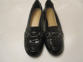 Nine West Womens Black Shoes Faux Patent Leather Reptile Look Size 6M - €9,36 EUR
