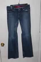 W7984 Womens GUESS JEANS Blue Stretch Denim BOOT CUT JEANS Pants 29 sz 8 - $15.45