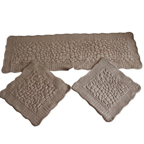 Set of 3 Plush Seat Cushions/General Car Cushion/Sofa Cushion,COFFEE