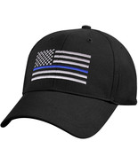 Kids Black Support The Police Thin Blue Line USA American Flag Baseball Cap - $9.99