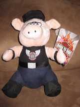 "Born To Ride Biker Beasts Pig W Belt New Plush Nwt Stuffed Animal 10"" Sugar Loaf - $7.99"