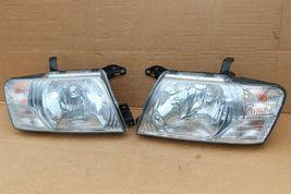 03-06 Mitsubishi Montero Limited Headlight Head Light Lamps Set L&R - POLISHED image 9