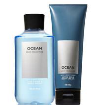 Bath & Body Works Ocean For Men Body Cream & 2-in-1 - Hair + Body Wash D... - $28.37