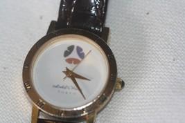 Hotel Okura Tokyo Gold tone Ladies Watch Leather Band Japan Mvmt - $17.82