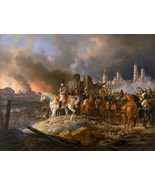 Napoleon in Burning Moscow Painting by Adam Albrecht Art Reproduction - $32.99+