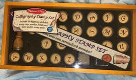 Melissa & Doug Calligraphy Rubber Stamp Set Missing Letter L - $10.30