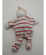 Under the Nile red tan striped organic cotton cloth security blanket bab... - $12.86