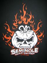 Harley Davidson Seminole Pumpkin Sanford Florida Black T Shirt Mens M Me... - $19.79
