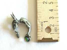 Vintage FABLE Signed Dragon Wyrm Mythical Brooch / Pin or Single Earring Pewter - $14.24