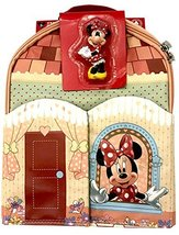 Disney Parks Shanghai Minnie Mouse Play Mat Tote Backpack with Figurine - $24.10