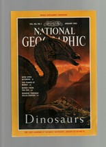 National Geographic - January 1993 - Dinosaurs, Wyoming, Money, Colca Ca... - $1.47