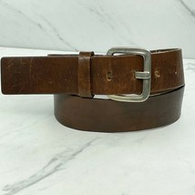 Studded Brown Genuine Leather Wide Belt Size Medium 32 - $18.59