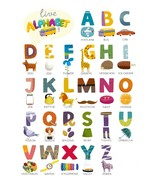 Childrens Alphabet Poster Print Choose your size Unframed. - $6.30+
