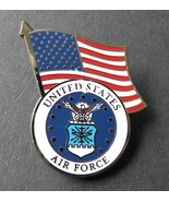 USAF US Air Force Logo USA Flag Lapel Pin Badge 1 Inch - $4.85