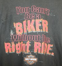 Harley Davidson Boston ma Motard Droit Ride T-Shirt Hommes 3XL XXXL - $20.91