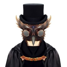 Reenactment Plague Doctor Steampunk Bird Leather Mask Halloween Gothic Cosplay image 2