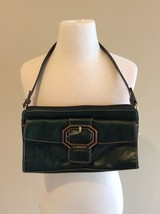 Liz Claiborne Purse Shoulder Bag Dark Green Top Zip Small - $16.99