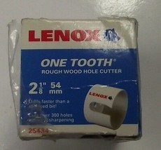 "Lenox 25434-34HC One Tooth Rough Wood Hole Cutter 2-1/8"" (54mm) - $11.88"