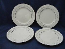 "4 Noritake Heather Ivory China 6 3/8"" Bread Dessert Plates White Flowers - $19.95"
