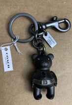 NEW Coach Marvel Limited Edition Black Panther Bear Keychain Bag Charm G... - $68.31