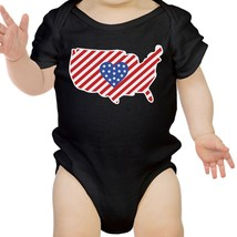 American Flag Pattern USA Map Cute Baby Bodysuit For Baby Shower - $14.99
