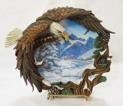The hamilton collection winter solstice plate four seasons of the eagle 1996 - $18.24