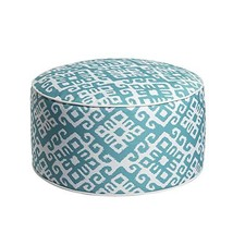 Art Leon Outdoor Inflatable Ottoman Turquoise Round Patio Footstool for ... - $28.32