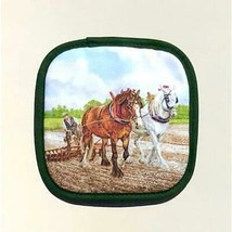 British Clydesdale Heavy Plow Horse Breed Potholder Made UK Shire Suffolk - $16.78