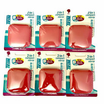 6-Pack TRIM 2-in-1 Pink Compact Mirror 2x/1x Magnification - US SELLER - $39.66