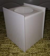Vintage Tissue Box Cover Square white acrylic lucite  Bottom Holder Kleenex - $24.28