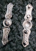 """Silver Halter or Bridle Bars 7/8"""" x 4"""" by Action Company Pair set of 2 image 2"""
