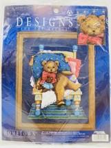 Leisure Arts Hometown Signature Series Counted Cross Stitch Kit Mr. Bear #5611 - $19.79