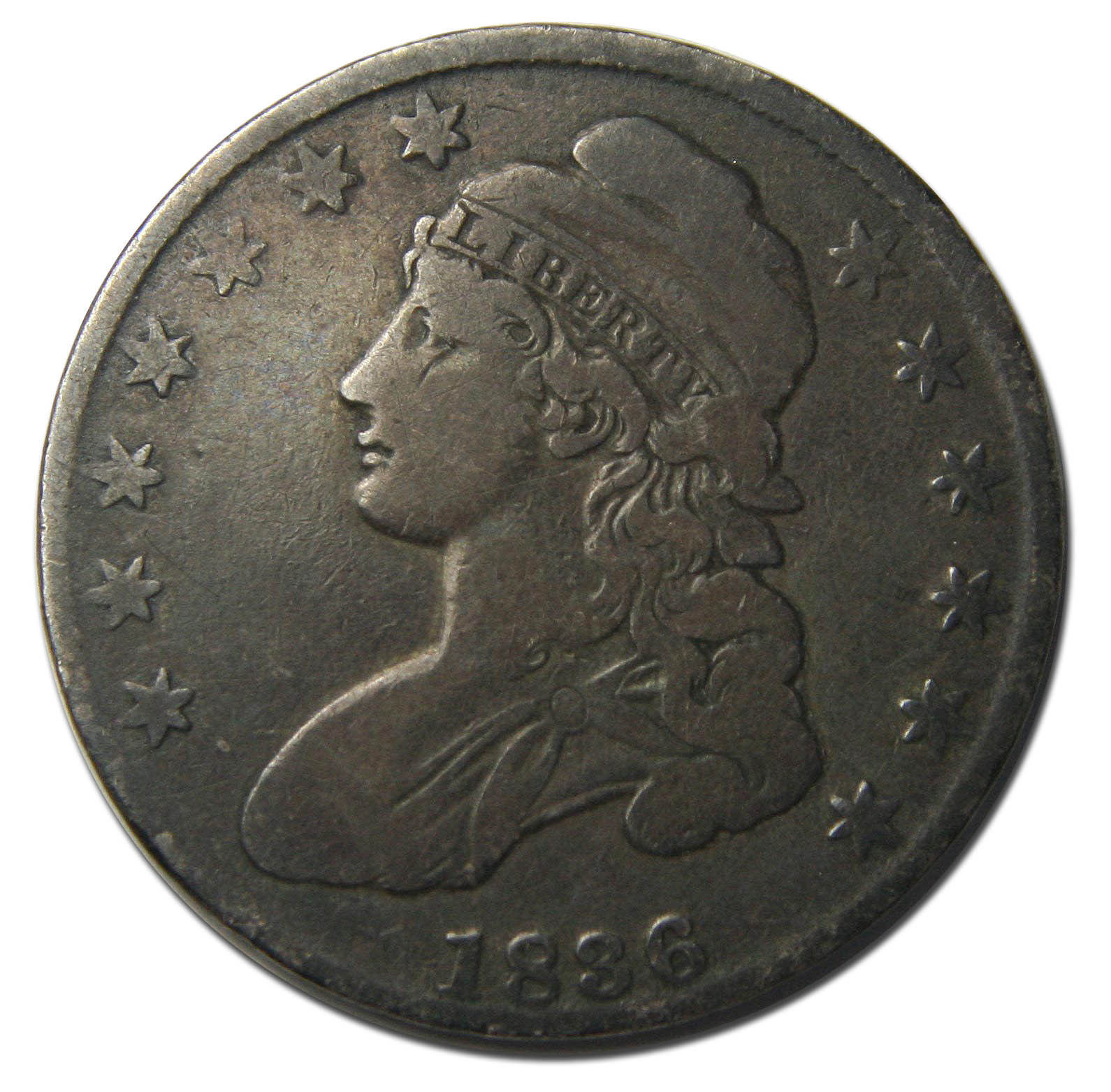 1836 Capped Bust Half Dollar 50¢ Coin Lot# A 289
