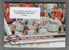 2017 Topps Philadelphia PHILLIES Team Set Both Series 1 & 2 (19) - $2.00