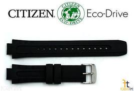 Citizen Eco-Drive E168-S061903 Original 14mm Black Rubber Watch Band S06... - $76.95