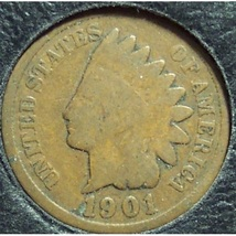 1901 Indian Head Penny G #0868 - $1.59