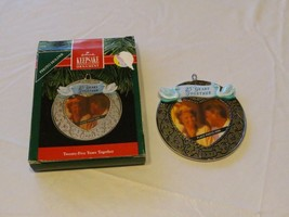 RARE ornament Hallmark Christmas Twenty five years Together 1991 Keepsak... - $10.68