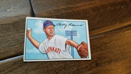 1952 BOWMAN BASEBALL CARD BOBBY ADAMS CINCINNATI REDS CUBS WHITE SOX ORI... - $7.99